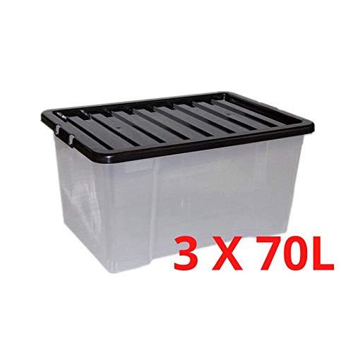 Caja almacenamiento plástico grande Caja almacenamiento