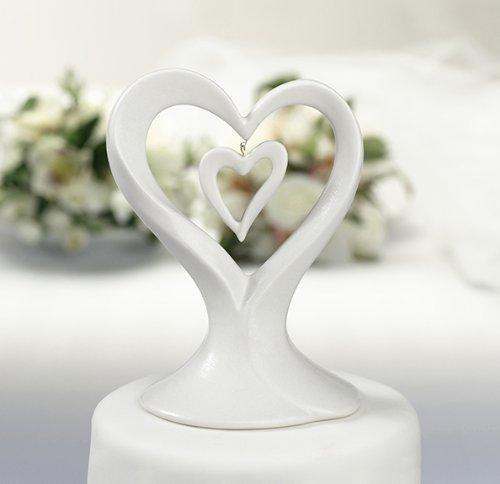 Porzellan Double Heart (Kuchen Herz Top Doppel)