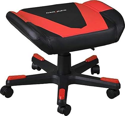 DXRacer FR/FX0/NR Asiento Acolchado - Silla (Asiento Acolchado, Negro, Rojo, Imitación Piel, 5 Rueda(s), 120 kg, 43 cm)