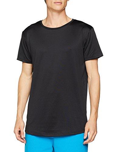 Urban Classics Herren T-Shirt Shaped Neopren Long, Schwarz (Black 00007), S
