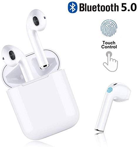 Bluetooth Headset 5.0, Casque sans Fil, Microphone intégré et étui de Chargement, réduction de Bruit stéréo 3D HD pour Casques Apple Airpods/Android/iPhone/Samsung