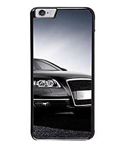 PrintVisa Designer Back Case Cover for Apple iPhone 6 Plus (gleaming black car front road)