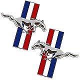 YYD Carrosserie Logo Voiture décoration Autocollant, Accessoires Voiture pour Ford Mustang,Argent
