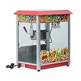 Retro Profi Popcornmaschine Popcornmaker Popcornautomat 1400W 16L/h mit Beleuchtung für Gatronomie Kino