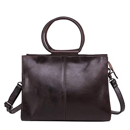 e11b0ea9845f5 HWX Mode Lederhandtasche Große Schultertasche Tote Bag für die tägliche  Arbeit mit abnehmbarem Schultergurt (Farbe   B