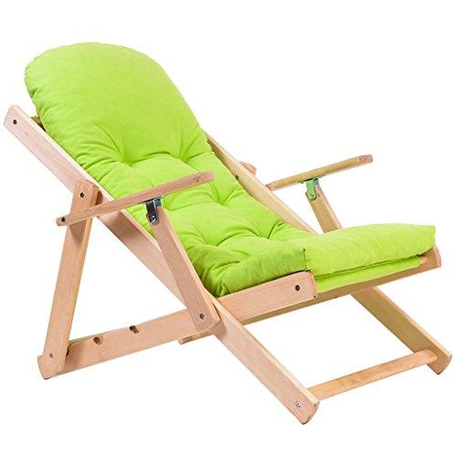 HWF Chaises pliantes Chaise pliante rabattable Canapé ajustable Chaise de sol en bois massif (Couleur : A)