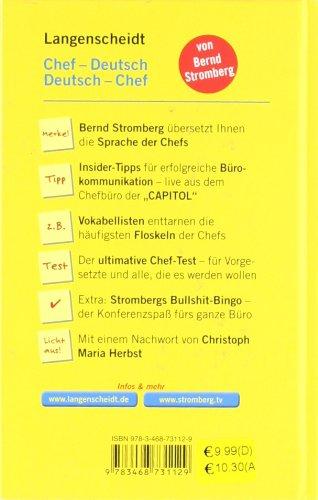 Livres Couvertures de Langenscheidt Chef-Deutsch/Deutsch-Chef: Klartext am Arbeitsplatz (Langenscheidt ...-Deutsch)