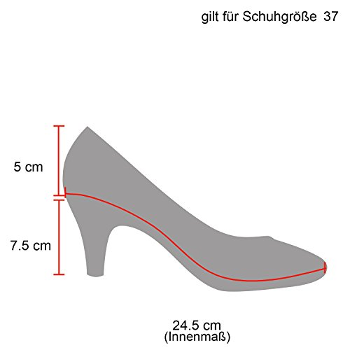 Klassische Damen Pumps Stilettos Abend Leder-Optik Glitzer Metallic Lack Schleifen Tanz Braut Schuhe...