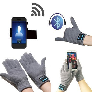 Generic Winter Warm Bluetooth Wireless Hands Free Calls MP3 Play Gloves (Pink)