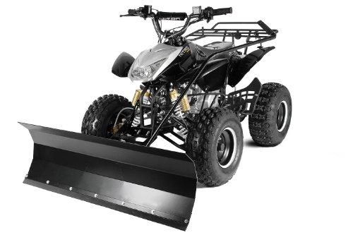 Quad ATV mit Schneeschieber Schneeschild Räumschild 100cm Jumper Schwarz