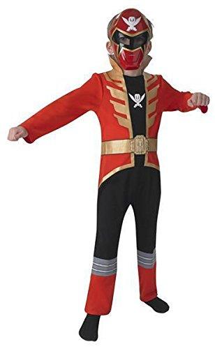 Ranger Kostüme Megaforce Red (Kostüm - Red Power Ranger Super Megaforce Classic Child - Jungen Größenwahl)