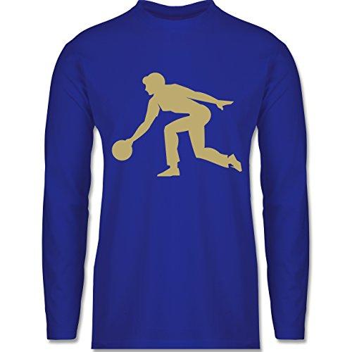 Shirtracer Bowling & Kegeln - Keglerin - Herren Langarmshirt Royalblau