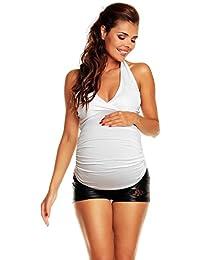 Zeta Ville - mujer - top maternidad camiseta - desgaste camiseta - 167c