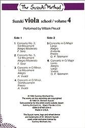 Suzuki Viola School, Vol 4: Cassette (Suzuki Method Core Materials)