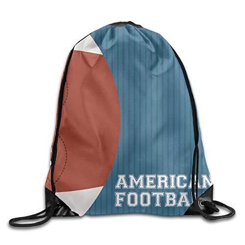 Etryrt Prämie Turnbeutel,Sporttaschen, American Football Unisex Home Rucksack Shoulder Bag Travel Drawstring Backpack Bag