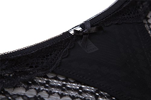 CharmLeaks Damen Sexy Spitze Slips Lace Unterwäsche 3er / 6er Pack Schwarz/Blau/Weirot/Beige