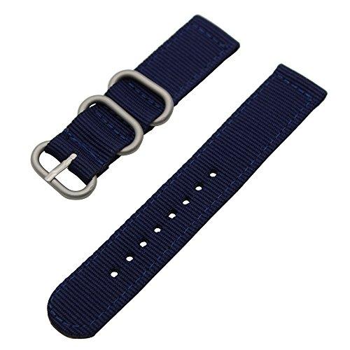 Cinturino TRUMiRR 20 millimetri in nylon balistico Watch Band Zulu 2 pezzi per Samsung Gear S2 Classic SM-R732 / R735, MOTO 360 2 42 millimetri Uomini, Pebble tempo di andata e 20mm, Bradley Timepiece