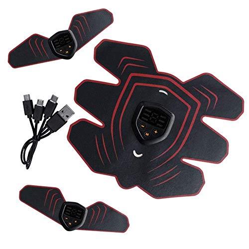 YYHSND Elektrischer Stimulator der Bauchmuskulatur Bauchmuskeltrainer Bauchmuskeltraining Gurttraining Fitness-Massagegerät Bauchmuskel Paste