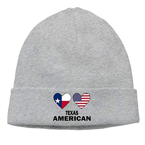 DHNKW Men Women Texas American Hearts Soft Beanie Hat -