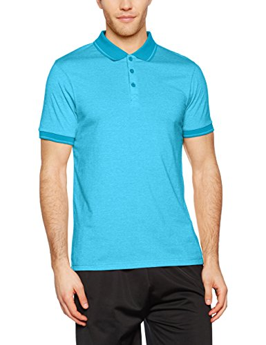 James & Nicholson Herren Poloshirt Men´s Heather Polo Blau (Turquoise-Melange/Turquoise)