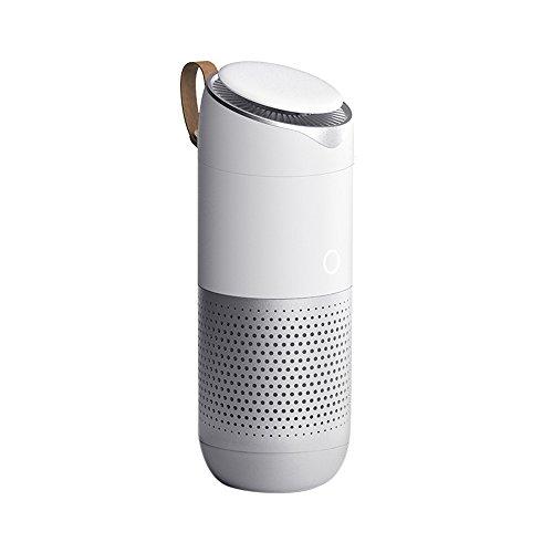 AutoHub tech Luftreiniger, True HEPA Filter Functional Mehrzweck-Luftfilter Entfernen von Rauch Staubgeruch Geruch Zuhause Büro Auto - Weiß