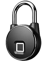 JL Cerradura Inteligente de la Huella Digital sin Llave Impermeable USB Recargable Antirrobo Seguridad Candado Puerta