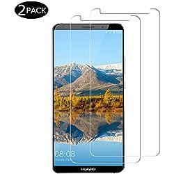 CNXUS[2 Pièces Compatible pour Verre trempé Huawei Mate 10 Pro, Protecteur d'écran Mate 10 Pro, Ultra Mince, Dureté 9H, Anti-Rayures, sans Bulle d'air, Anti-Huile, Anti-Empreintes Verre Mate 10 Pro
