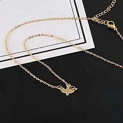 Idea Regalo - Jovono moda colomba pendente collane piccione collana catena di gioielli per donne e ragazze (oro)