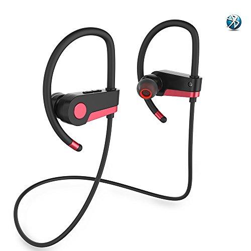 mysunny Bluetooth auriculares deporte estéreo inalámbrico auriculares auriculares ajuste seguro auriculares para correr auriculares Running Gym auriculares con micrófono integrado para iPhone Android