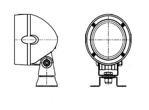 HELLA 1GM 996 134-081 Arbeitsscheinwerfer Mega Beam FF für Geländeausleuchtung, Anbau/ Steckanschluss/ AMP-Anschluss, Halogen, 12V/24V