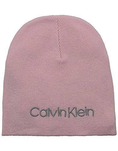 Calvin Klein Damen Strickmütze Classic Beanie W Rosa (PINK Tea) One Size (Herstellergröße:OS)