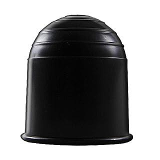 Craft-Equip Anhänger-Abdeckkappe schwarz AHK Schutzkappe PKW Kappe Ø 50 mm Auto