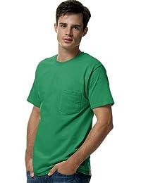 Hanes TAGLESS® Men`s Pocket T-Shirt