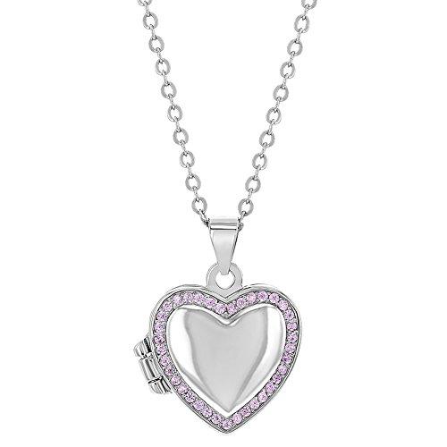 In Season Jewelry - 925 Sterlingsilber Sterling-Silber 925 Rund Pink zirkonia