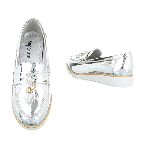 Ital-Design , chaussons dintérieur femme Silber 62050