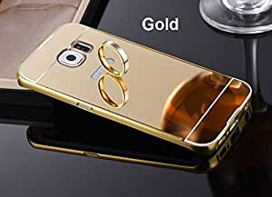 Coque pour samsung galaxy s7 edge m tal miroir or coque for Miroir high tech