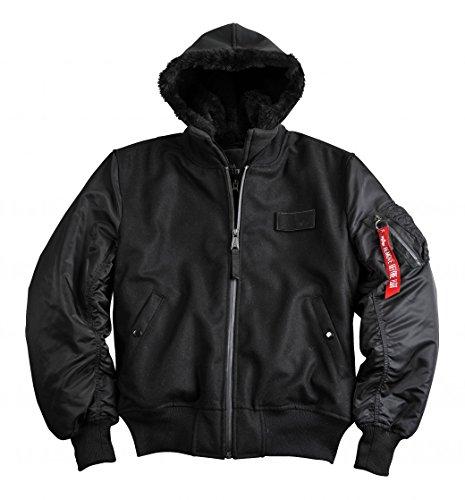 Preisvergleich Produktbild Alpha Industries Jacke Ma-1 D-Tec Wool, Größe:L, Farbe:black
