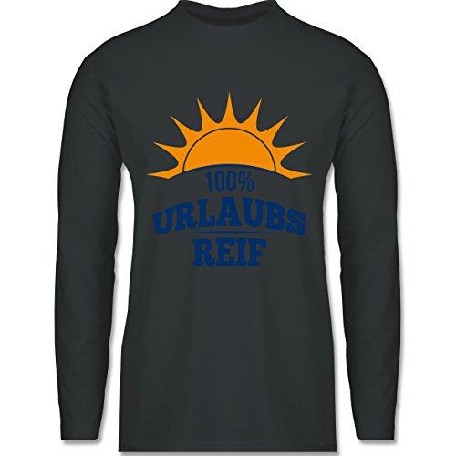 Urlaub - Urlaubsreif - Longsleeve / langärmeliges T-Shirt für Herren Anthrazit