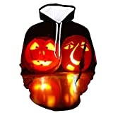 KPILP Hoodie 3D Druck Kapuzenpullover Herren Langarm Sweatshirt Unisex Pullover Kapuzen-Sweatshirt T-Shirt Halloween Cosplay Hoodie Kostüm Party Kleidung