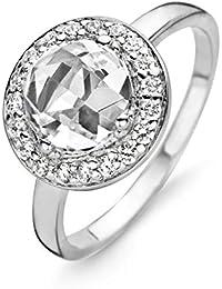 Orphelia Damen-Ring 925 Silber rhodiniert Zirkonia weiß Rundschliff Gr. 50 (15.9) - ZR-3766/50
