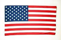 Le drapeau des Etats-Unis de la marque AZ FLAG est réalisé en polyester de haute qualité et comporte deux œillets métalliques. Les bords sont renforcés et les coutures doublées pour une résistance optimale. Le drapeau américain proposé ici mesure 150...