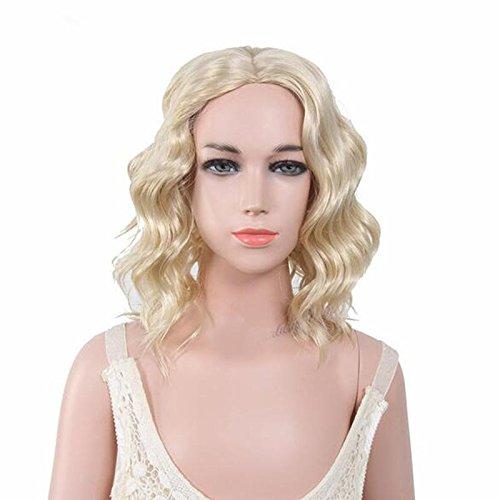 WG(New) Blonde Perücken der Kinder mit dem langen lockigen Haar
