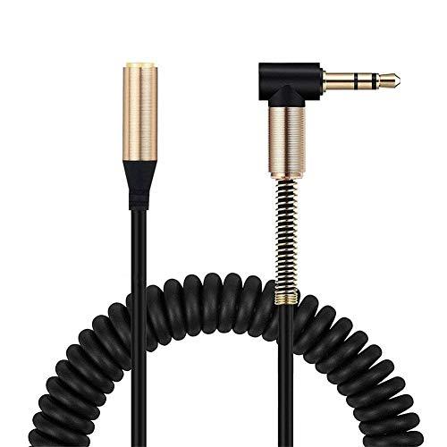 ULTRICS Aux Verlängerung Kabel Coil, Stereo 3,5mm Klinke Audio Verlängerungskabel Stecker auf Buchse Jack Kopfhörer Extension Cable Kompatibel Mit Apple Samsung Smartphones Lautsprecher und Mehr