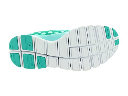Nike W Nk Free 5.0 V4 Ns Pt Damen Sneaker Lt Retro/Light Aqua/Artsn Teal
