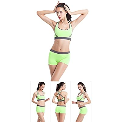 Butterme Frauen Nahtlose Padded Sport-BH + Pants Set Damen Yoga BH Sport Fitness BH Tank Top Shorts Anzug