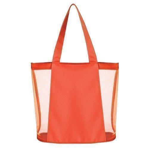 Borsa da spiaggia a rete, da estate, Borsa a tracolla, borsa per la spesa Arancione