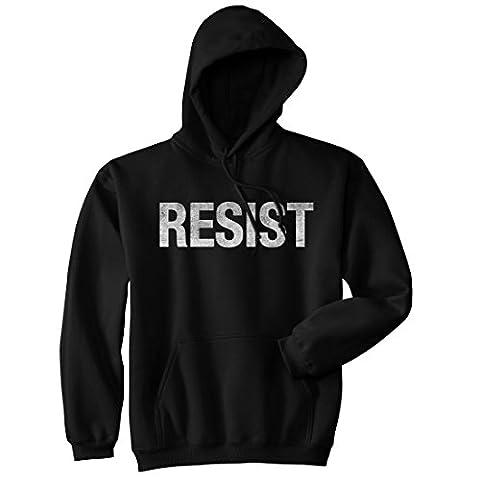 Crazy Dog TShirts - Resist Sweatshirt United States of America Protest Rebel Political Unisex Hoodie (Black) XL -