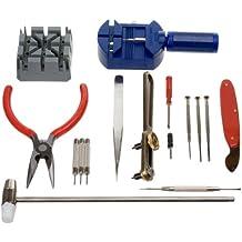 Nueva 16PC Kit de herramientas de reparación de relojes