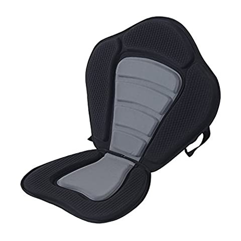 Aosom Padded Kayak Seat and Backrest - Black
