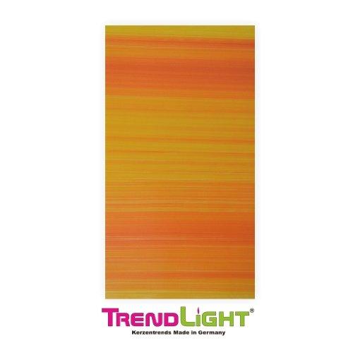 Verzierwachsplatten - Wachsplatten gelb/orange 2 Stück 20x10 cm